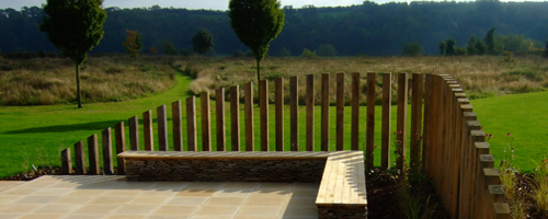 Contemporary garden design for Garden windbreak designs