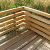 contemporary fitted garden bench