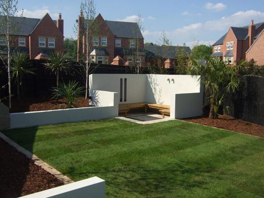 Contemporary Nottingham Garden Design.